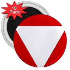 Roundel Of Austrian Air Force  3  Magnets (10 Pack)