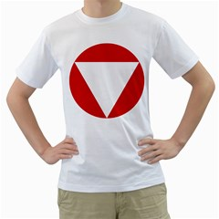 Roundel Of Austrian Air Force  Men s T Shirt (white) (two Sided)