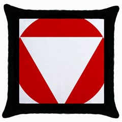 Roundel Of Austrian Air Force  Throw Pillow Case (black)