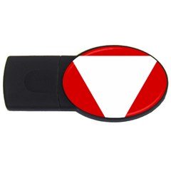 Roundel Of Austrian Air Force  Usb Flash Drive Oval (2 Gb)