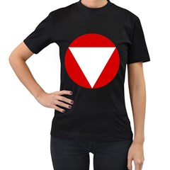 Roundel Of Austrian Air Force  Women s T Shirt (black) (two Sided)