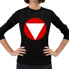 Roundel Of Austrian Air Force  Women s Long Sleeve Dark T Shirts