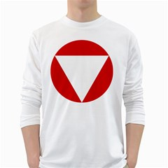 Roundel Of Austrian Air Force  White Long Sleeve T Shirts