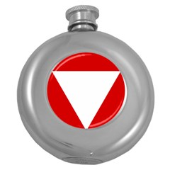 Roundel Of Austrian Air Force  Round Hip Flask (5 Oz)