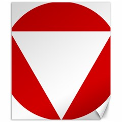Roundel Of Austrian Air Force  Canvas 8  X 10