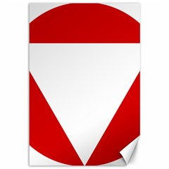 Roundel Of Austrian Air Force  Canvas 12  X 18