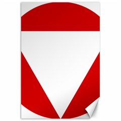 Roundel Of Austrian Air Force  Canvas 20  X 30