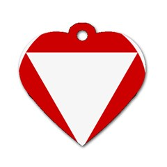 Roundel Of Austrian Air Force  Dog Tag Heart (one Side)