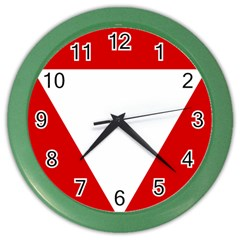 Roundel Of Austrian Air Force  Color Wall Clocks