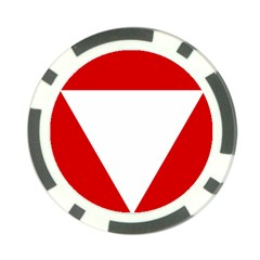 Roundel Of Austrian Air Force  Poker Chip Card Guard