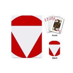 Roundel Of Austrian Air Force  Playing Cards (mini)