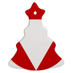 Roundel Of Austrian Air Force  Christmas Tree Ornament (two Sides)