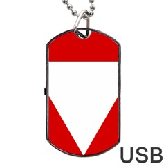 Roundel Of Austrian Air Force  Dog Tag Usb Flash (one Side)