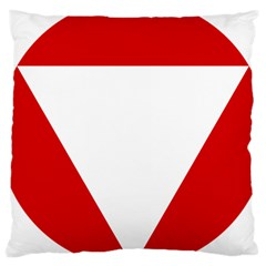 Roundel Of Austrian Air Force  Large Cushion Case (two Sides)