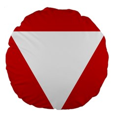 Roundel Of Austrian Air Force  Large 18  Premium Round Cushions