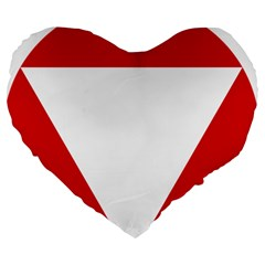Roundel Of Austrian Air Force  Large 19  Premium Heart Shape Cushions