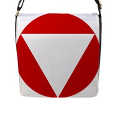 Roundel Of Austrian Air Force  Flap Messenger Bag (l)