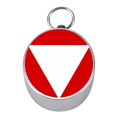 Roundel Of Austrian Air Force  Mini Silver Compasses