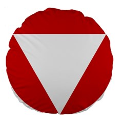 Roundel Of Austrian Air Force  Large 18  Premium Flano Round Cushions