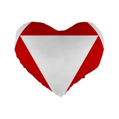Roundel Of Austrian Air Force  Standard 16  Premium Flano Heart Shape Cushions