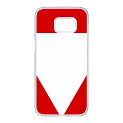 Roundel Of Austrian Air Force  Samsung Galaxy S7 Edge White Seamless Case
