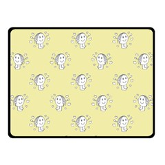 Cute Kids Drawing Motif Pattern Fleece Blanket (small) by dflcprints