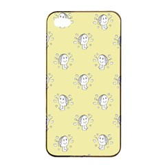 Cute Kids Drawing Motif Pattern Apple Iphone 4/4s Seamless Case (black) by dflcprints
