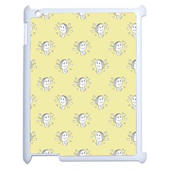 Cute Kids Drawing Motif Pattern Apple Ipad 2 Case (white) by dflcprints