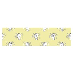 Cute Kids Drawing Motif Pattern Satin Scarf (oblong) by dflcprints