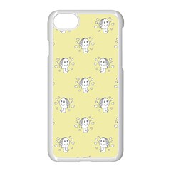 Cute Kids Drawing Motif Pattern Apple Iphone 7 Seamless Case (white) by dflcprints