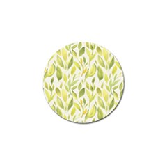 Green Leaves Nature Patter Golf Ball Marker (4 Pack) by paulaoliveiradesign
