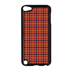 Red Yellow Plaid Apple Ipod Touch 5 Case (black) by snowwhitegirl