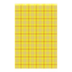 Yellow Sun Plaid Shower Curtain 48  X 72  (small)  by snowwhitegirl
