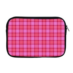 Valentine Pink Red Plaid Apple Macbook Pro 17  Zipper Case by snowwhitegirl