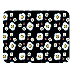 Eggs Black Double Sided Flano Blanket (large)  by snowwhitegirl