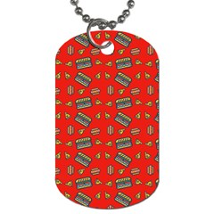 Fast Food Red Dog Tag (two Sides) by snowwhitegirl