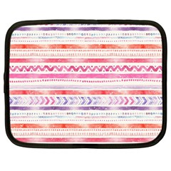 Watercolor Tribal Pattern Netbook Case (xxl)  by tarastyle