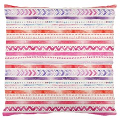 Watercolor Tribal Pattern Large Cushion Case (two Sides) by tarastyle