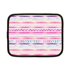 Watercolor Tribal Pattern  Netbook Case (small)  by tarastyle