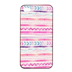 Watercolor Tribal Pattern  Apple Iphone 4/4s Seamless Case (black) by tarastyle