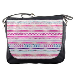 Watercolor Tribal Pattern  Messenger Bags by tarastyle
