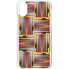Artwork By Patrick Squares 3 Apple Iphone X Seamless Case (white) by ArtworkByPatrick