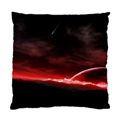 Outer Space Red Stars Star Standard Cushion Case (one Side) by Sapixe