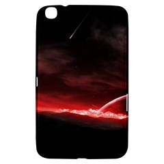 Outer Space Red Stars Star Samsung Galaxy Tab 3 (8 ) T3100 Hardshell Case  by Sapixe
