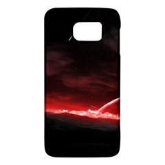 Outer Space Red Stars Star Galaxy S6 by Sapixe