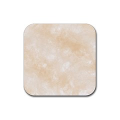 Pattern Background Beige Cream Rubber Coaster (square)  by Sapixe