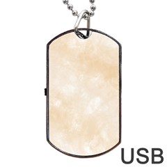 Pattern Background Beige Cream Dog Tag Usb Flash (one Side) by Sapixe