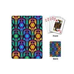 Pattern Background Bright Blue Playing Cards (mini)  by Sapixe