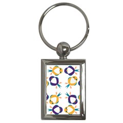 Pattern Circular Birds Key Chains (rectangle)  by Sapixe