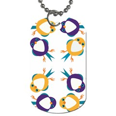Pattern Circular Birds Dog Tag (two Sides) by Sapixe